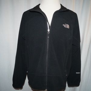 North Face XL Black Full Zip Fleece Jacket Coat
